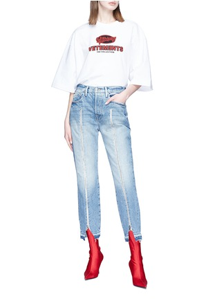Figure View - Click To Enlarge - Vetements - Logo print oversized unisex T-shirt