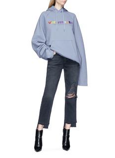 Vetements Logo print oversized hoodie