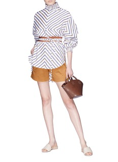 Silvia Tcherassi 'Sellian' belted paperbag shorts