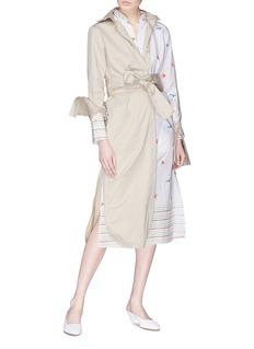 Silvia Tcherassi Tivoli蝴蝶蜻蜓印花风衣式府绸连衣裙