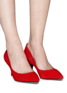 PEDDER RED Olivia绒面真皮尖头高跟鞋