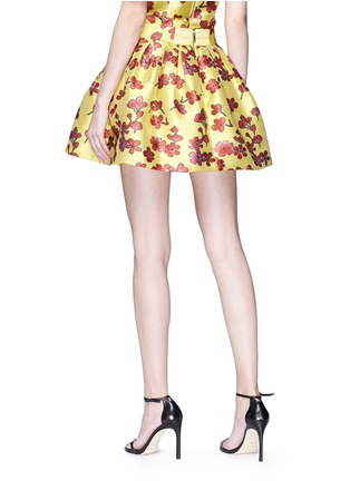 Back View - Click To Enlarge - alice + olivia - 'Fizer' box pleat floral jacquard skirt