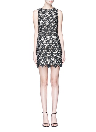 Main View - Click To Enlarge - alice + olivia - 'Clyde' floral guipure lace shift dress