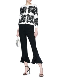 alice + olivia 'Ruthy' floral lace panel cardigan