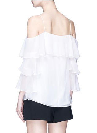 Back View - Click To Enlarge - alice + olivia - 'Marylee' ruffle off-shoulder silk crepe blouse