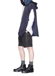 Juun.J Patchwork zip outseam shorts