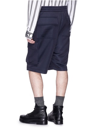 Back View - Click To Enlarge - Juun.J - Drop crotch cargo shorts