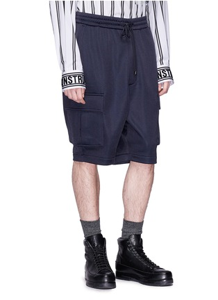 Front View - Click To Enlarge - Juun.J - Drop crotch cargo shorts