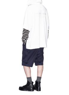 Juun.J Slogan embroidered zip outseam hoodie