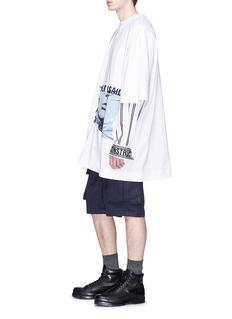 Juun.J 'Left unsaid' embroidered photographic print T-shirt