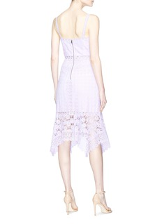 alice + olivia 'Tamika' cutout floral guipure lace handkerchief dress