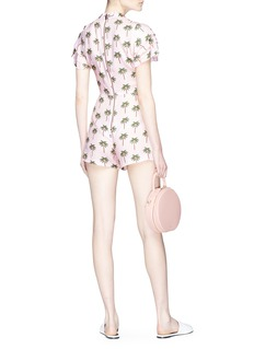 alice + olivia x Angelica Hicks 'Macall' palm tree print rompers