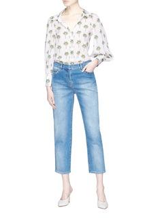 ALICE + OLIVIA x Angelica Hicks Salome棕榈树真丝条纹衬衫