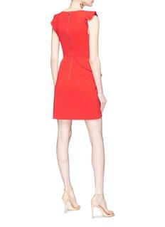 alice + olivia 'Verona' ruffle crepe dress