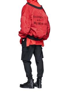 Juun.J Reversible slogan embroidered bomber jacket