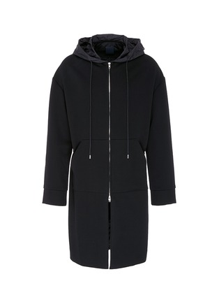 Main View - Click To Enlarge - Juun.J - 'Construct' slogan photographic print hooded coat