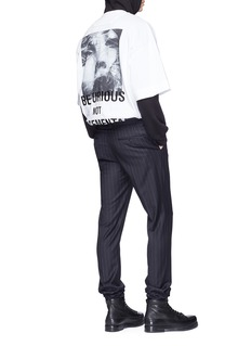 Juun.J Slogan photographic print T-shirt