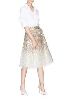 alice + olivia 'Catrina' sequin tulle skirt