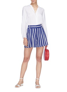 alice + olivia 'Scarlet' stripe high waist shorts