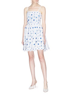 alice + olivia 'Vandy' floral guipure lace dress