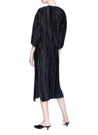 Figure View - Click To Enlarge - YCH - Plissé pleated satin midi dress