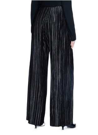 Back View - Click To Enlarge - YCH - Plissé pleated satin wide leg pants