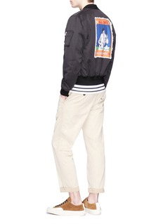 JW Anderson 'Baseball Card' appliqué unisex twill bomber jacket