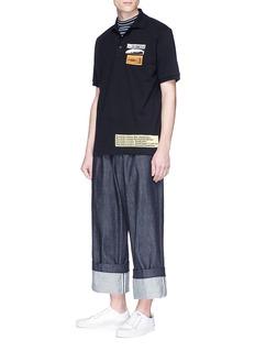 JW Anderson 'Bubblegum' patch polo shirt