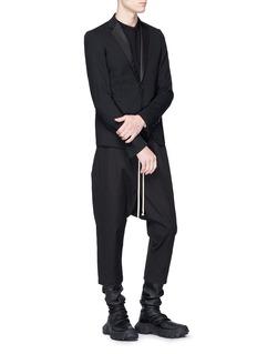 Rick Owens Virgin wool soft tuxedo blazer