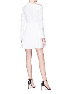 HELEN LEE One-shoulder poplin shirt dress