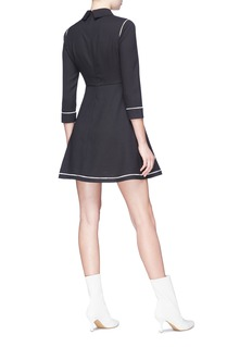 HELEN LEE Geometric bunny embrodiered collar dress
