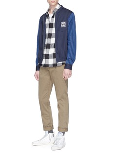 Scotch & Soda Stripe sleeve bomber shirt jacket