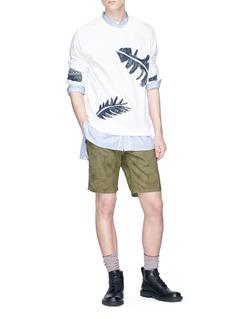 Scotch & Soda Leaf print twill shorts