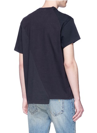 Back View - Click To Enlarge - Vetements - Logo print patchwork T-shirt