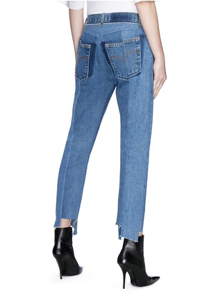 Back View - Click To Enlarge - Vetements - Staggered cuff cropped unisex jeans