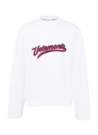Main View - Click To Enlarge - Vetements - Logo embroidered long sleeve T-shirt