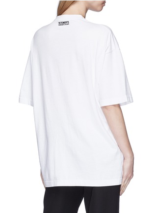 Back View - Click To Enlarge - Vetements - Flag logo embroidered unisex T-shirt