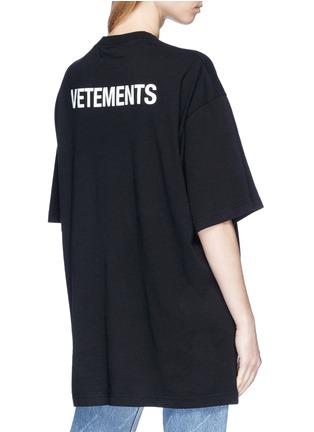 Back View - Click To Enlarge - Vetements - 'Staff' print unisex T-shirt