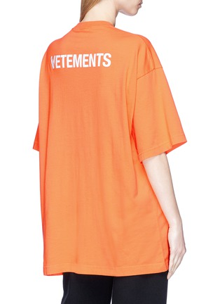 Back View - Click To Enlarge - Vetements - 'Staff' print T-shirt