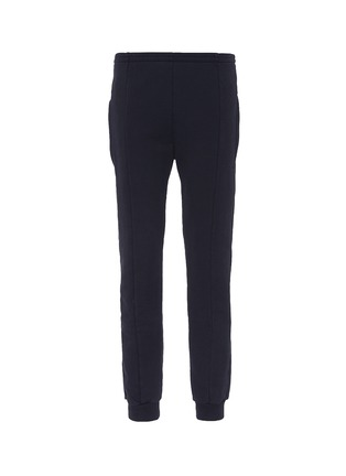Main View - Click To Enlarge - Vetements - Label appliqué tapered leg sweatpants