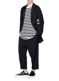 Yohji Yamamoto Drop crotch wool twill pants