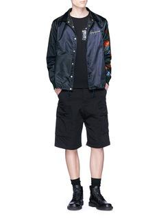 Yohji Yamamoto x New Era rose print logo embroidered coach jacket