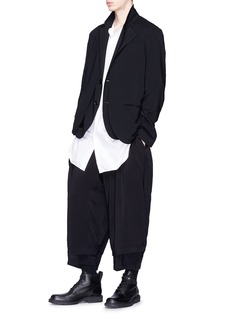 Yohji Yamamoto Double layered tapered wide leg pants