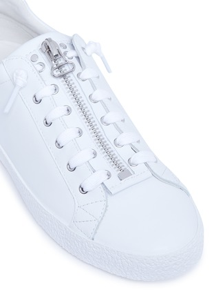 Detail View - Click To Enlarge - Ash - 'Nirvana' star patch leather zip sneakers