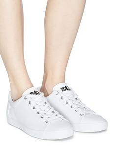 ASH Nicky星星点缀荔枝纹真皮运动鞋