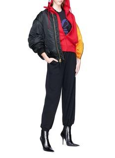 Vetements Extra long sleeve zip hoodie