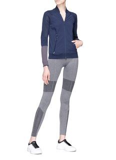 Adidas By Stella Mccartney 'Run' cutout elbow perforated panel performance jacket