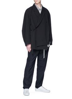 ETHOSENS 纯色羊毛长裤