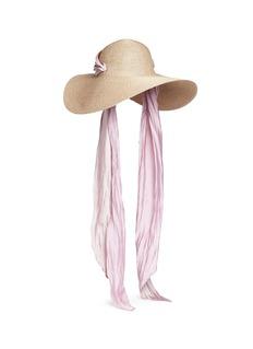 Eugenia Kim 'Bunny' detachable satin tie straw hat