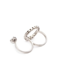 Joomi Lim 'Grandmistress Flash' chain hoop two finger ring